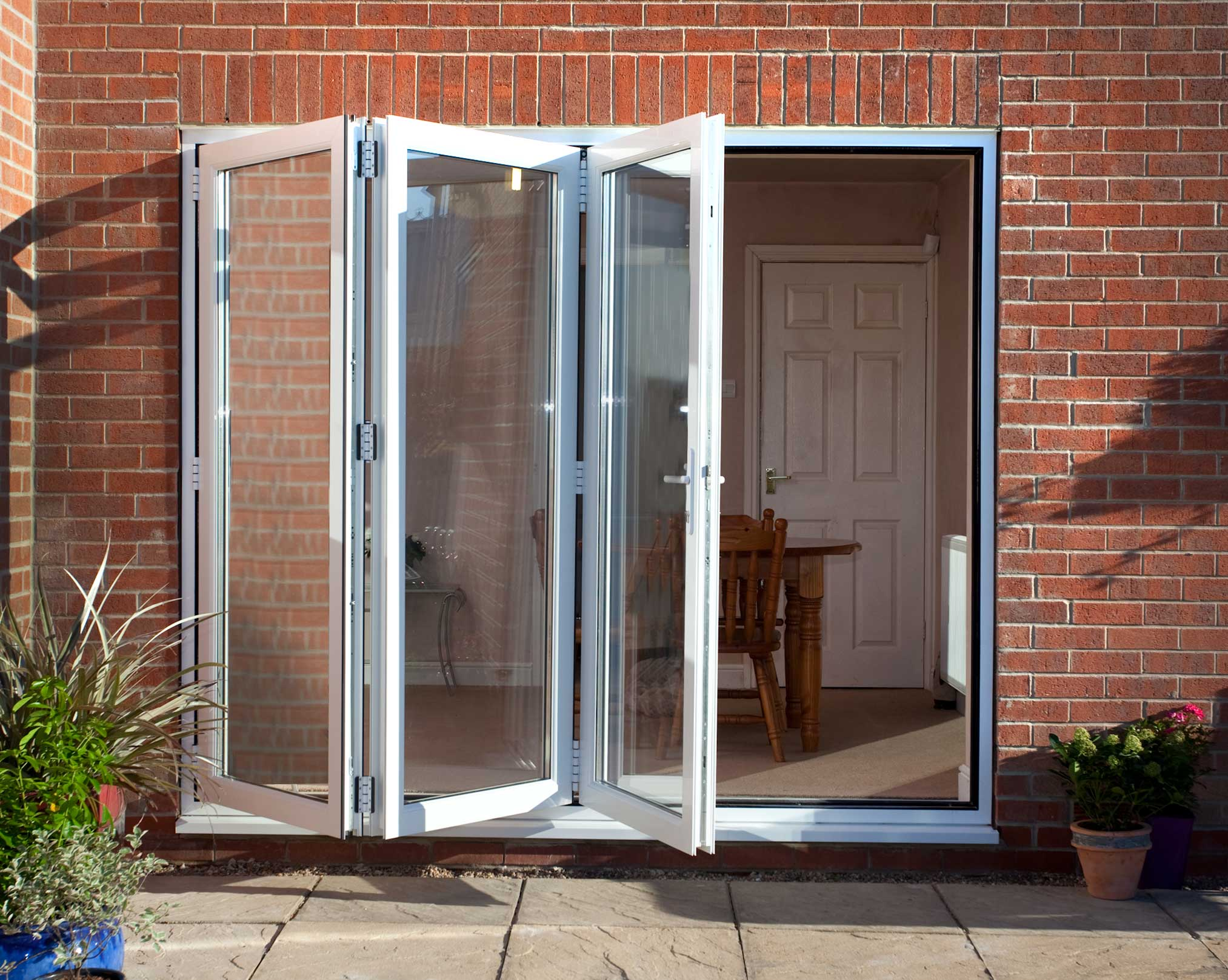 9 ft foot three pane 2690mm x 2090mm pvc bi fold plus for 9 foot exterior doors