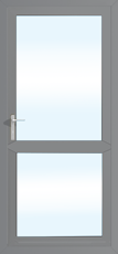 Stock 920mm x 2085mm grey aluminium door opening out