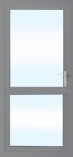 Stock 920mm x 2085mm aluminium grey  door