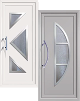 Aluminium And Pvc Front And Back Doors In Liniar And