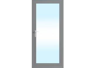 Grey aluminium 920mm x 2090mm back door in smart systems aluminium door920mm x 2085mmgrey planetlyrics Images