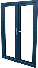 aluminium- french double door in smart systems