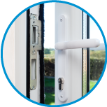handle both sides option for linear bifold plus folding sliding door