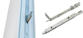 Aluminium folding door claw lock and shootbolt locking system