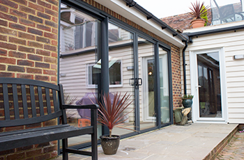 Four Pane Aluminium Sliding Patio Door