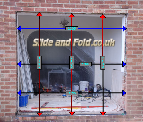 how to measure folding, sliding, bifold and bifold plus doors
