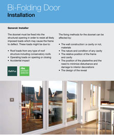 instructions on how to fit the standard folding door