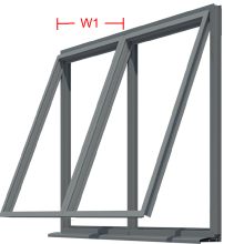 top over fixed window frame