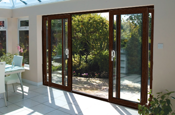 16ft Ft Rosewood Upvc Pvc Sliding Patio Doors