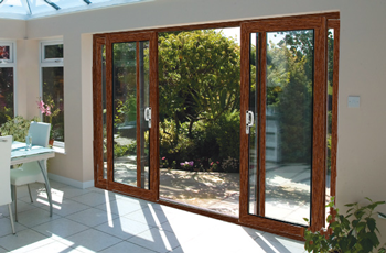 16ft ft oak on white upvc pvc sliding patio doors synseal 4 pane rosewood patio door planetlyrics Choice Image
