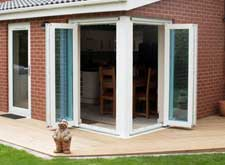 two pane pvc sliding folding bifold door gallery in rehau and liniar profile