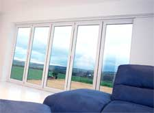 images of five pane pvc bi folding sliding doors