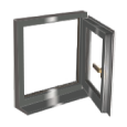 rh hung side hung pvc window