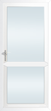 Stock 840mm x 2085mm white aluminium door opening out