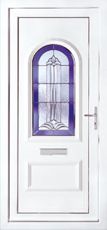 Liniar sculptured French doors
