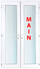 White upvc french door 6 ft foot double door 1790mm x for Upvc french doors 1790 x 2090mm