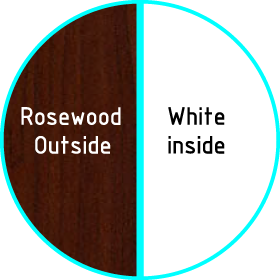 upvc rosewood on white colour