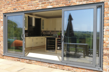 Four Pane Aluminium Sliding Patio Doors in Smarts Systems Visoglide