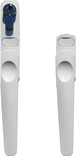 white handles for folding aluminium bi fold doors to suit smarts systems